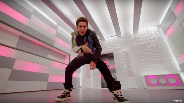 The sneakers Rick Owens of Austin Mahone in his clip MMM Yeah feat. Pitbull - Youtube Outfits and Products