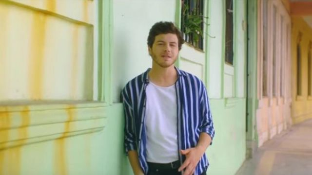The striped shirt outfit worn by Jérôme Achermann in the clip, a Little at Arcadian - Youtube Outfits and Products