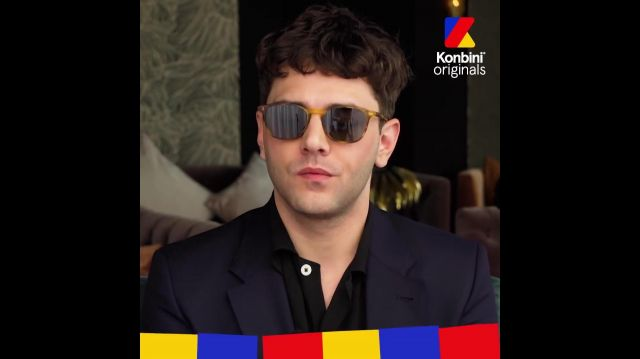 The sunglasses outfit worn by Xavier Dolan in his video Fast & Curious for Konbini