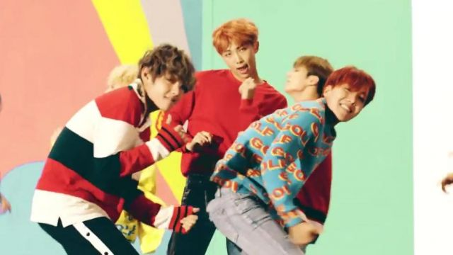 The sweater Golf Wang in the clip DNA of BTS - Youtube Outfits and Products