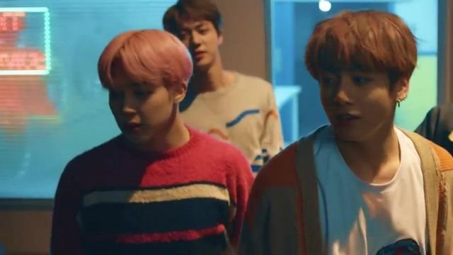 The sweater striped CARDIGAN from Jimin in the clip Spring Day BTS - Youtube Outfits and Products