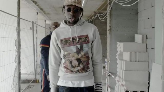 The sweatshirt Puff Fiction of Leto in the clip Building Still Fresh feat. Leto x Yaro - Youtube Outfits and Products