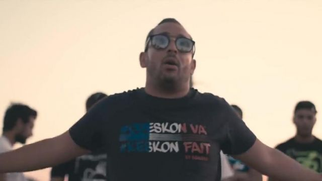 The t-shirt Oueskon Will Keskon Fact Euro 2016 Bengous in her video clip Tié Family - Youtube Outfits and Products