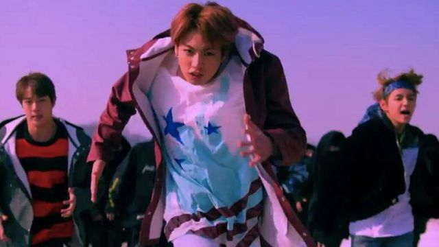 """The t-shirt """"star"""" of Jungkook in BTS (방탄소년단) 'Not Today' Official MV - Youtube Outfits and Products"""