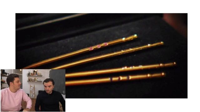 """The toothpick in gold seen in the video """"these people who have too much money"""" of Peter Croce - Youtube Outfits and Products"""