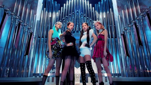 The top chiffon white Chanel Jennie Kim in the clip Kill-This Love of Blackpink - Youtube Outfits and Products