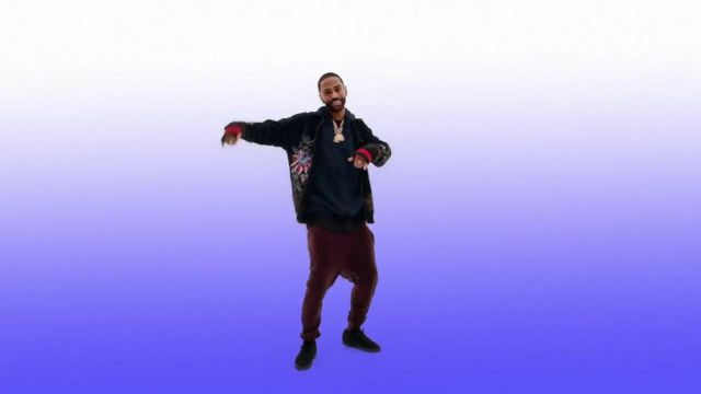 The velvet trousers in the clip Moves from Big Sean - Youtube Outfits and Products