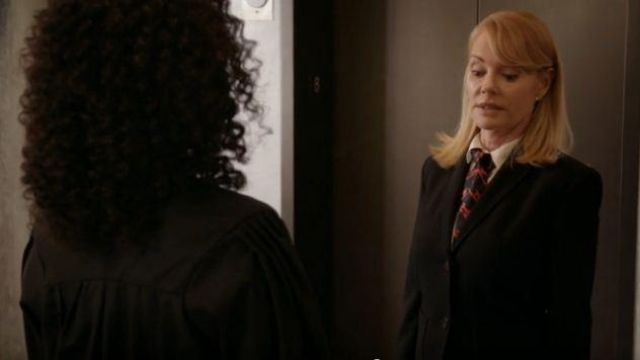 Theory Black bButton Front Blazer outfit worn by Lisa Benner (Marg Helgenberger) in All Rise Season 01 Episode 02 - TV Show Outfits and Products