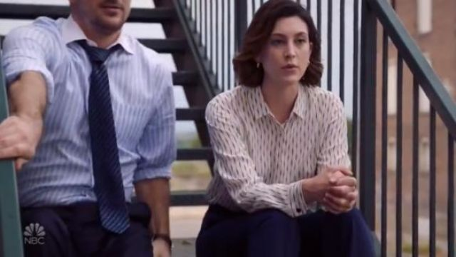 Theory Deep Navy Blue Edition 2 Custom Max Pants outfit worn by Sydney Strait (Caitlin McGee) in Bluff City Law Season 1 Episode 2 - TV Show Outfits and Products