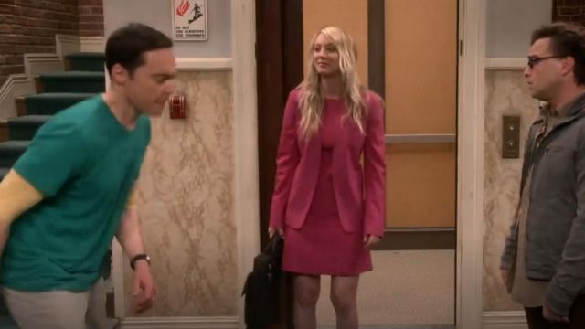 Theory Isita Classic Wool Blend Suit Blazer outfit worn by Penny (Kaley Cuoco) in The Big Bang Theory (S12E23) - TV Show Outfits and Products
