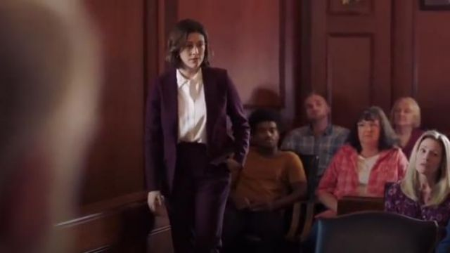 Theory Mulberry Demitria 2 Stretch Good Wool Suit Pants outfit worn by Sydney Strait (Caitlin McGee) in Bluff City Law Season 1 Episode 2 - TV Show Outfits and Products