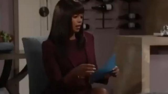 Theory Nichelle Wool Blazer outfit worn by Amanda Sinclair (Mishael Morgan) on The Young and the Restless October 1, 2019 - TV Show Outfits and Products