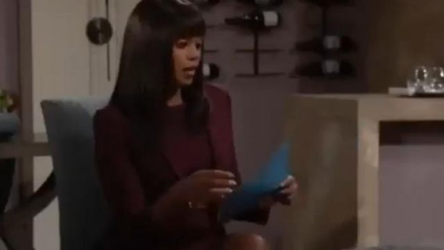 Theory Power Wool Dress outfit worn by Amanda Sinclair (Mishael Morgan) on The Young and the Restless October 1, 2019 - TV Show Outfits and Products