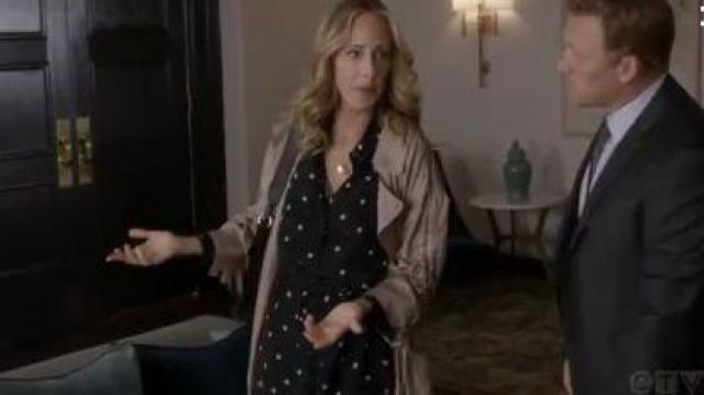 Theory Shirtdress outfit worn by Dr. Teddy Altman (Kim Raver) in Grey's Anatomy Season 16 Episode 08 - TV Show Outfits and Products
