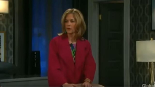Theory Suede Kimono Coat outfit worn by Eve Donovan (Kassie DePaiva) in Days of Our Lives October 7, 2019 - TV Show Outfits and Products