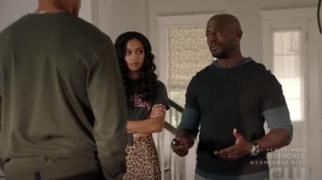 Three Dots Leopard Print Midi Skirt outfit worn by Olivia Baker (Samantha Logan) in All American Season 2 Episode 1 - TV Show Outfits and Products