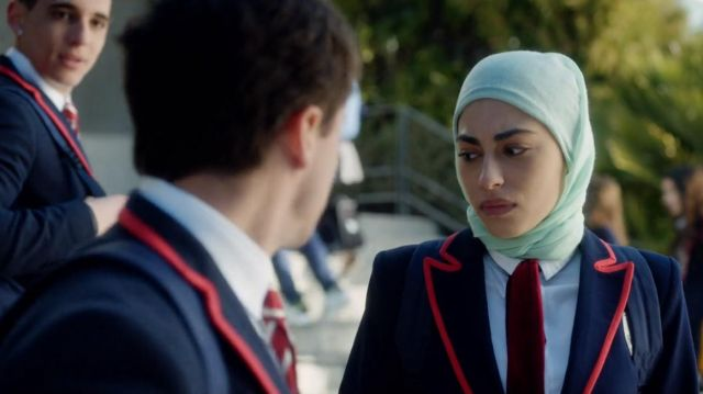 Tie of Nadia (Mina El Hammani) seen in Elite (Season 1 Episode 1) - TV Show Outfits and Products