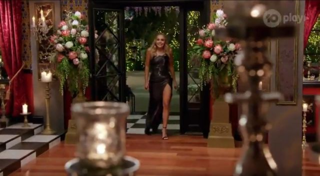 Tobi So Long Side Slit Maxi Dress outfit worn by Angie Kent in The Bachelorette Season 05 Episode 10 - TV Show Outfits and Products