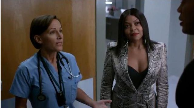 Tom Ford Snakeskin Print Blazer outfit worn by Cookie Lyon (Taraji P. Henson) in Empire Season 06 Episide 02 - TV Show Outfits and Products