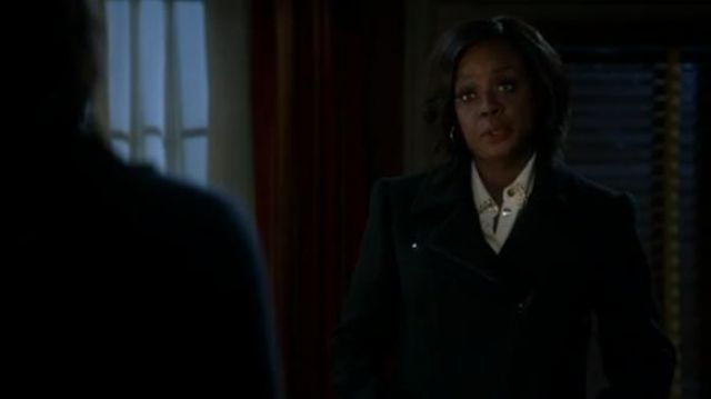 Tom Ford black zip-up long coat outfit worn by Annalise Keating (Viola Davis) in How to Get Away with Murder Season 6 Episode 2 - TV Show Outfits and Products