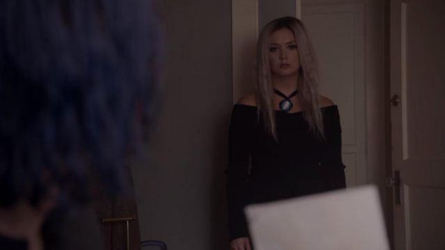 Top black Winter Anderson (Billie Heavy) seen in American Horror Story Season 7 Episode 7 - TV Show Outfits and Products