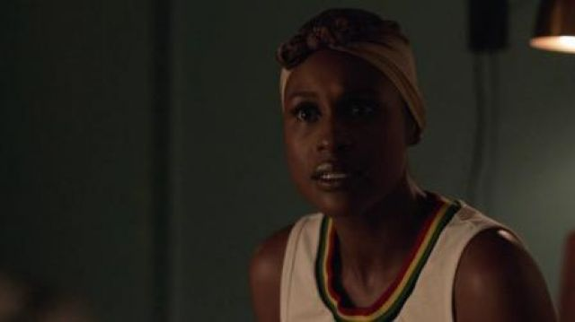 Top collar arc-en-ciel Issa Dee (Issa Rae) seen in Insecure (Season 3 Episode 8) - TV Show Outfits and Products