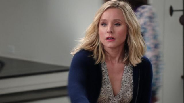 Top floral ruffled Eleanor Shellstrop (Kristen Bell) seen in The Good Place (Season 3 Episode 7) - TV Show Outfits and Products