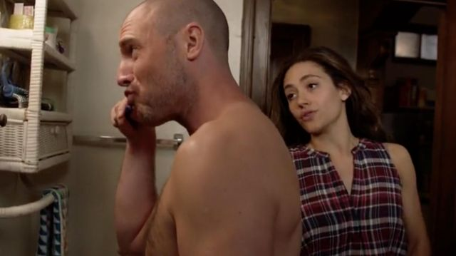 Top plaid Joy brought by Fiona Gallagher (Emmy Rossum) on Shameless Season 9 Episode 3 - TV Show Outfits and Products