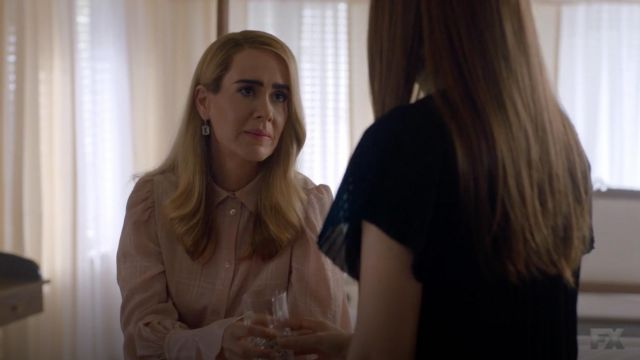 Top plaid See by Chloé outfit worn by Lana Winters (Sarah Paulson) seen in American Horror Story Season 8 Episode 7 - TV Show Outfits and Products