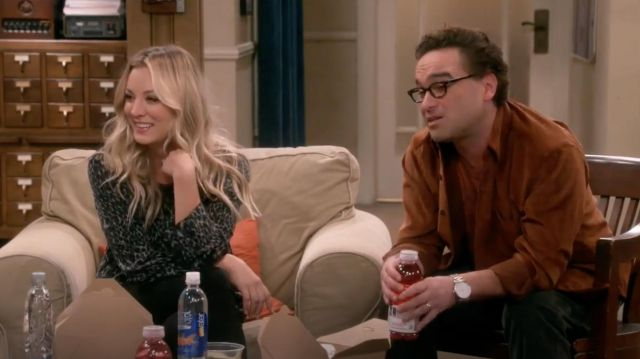 Top printed 'Abeline' by Equipment outfit worn by Penny (Kaley Cuoco) seen in The Big Bang Theory S12 Episode 6 - TV Show Outfits and Products