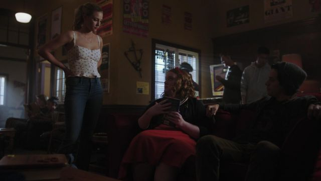 Top printed cherries Reformation brought by Betty Cooper (Lili Reinhart) seen in Riverdale Season 3 Episode 2 - TV Show Outfits and Products