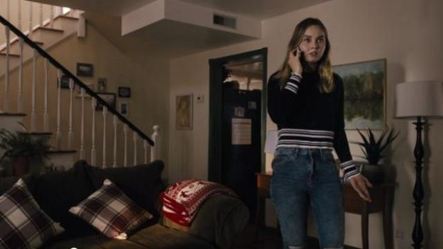 Topshop Blue ripped Knee Jeans outfit worn by McKenna Brady (Liana Liberato) in Light as a Feather Season 2 Episode 10 - TV Show Outfits and Products