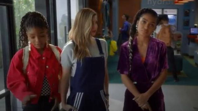 Topshop Corduroy Boxy Jacket outfit worn by Sky Forster (Halle Bailey) in grown-ish (Season 02 Episode 14) - TV Show Outfits and Products