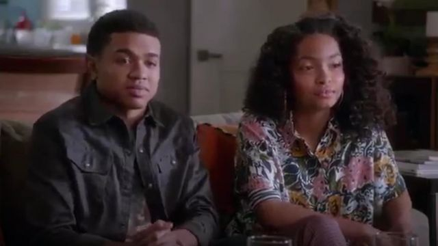 Topshop Floral Print Shirt outfit worn by Zoey Johnson (Yara Shahidi) in black-ish (Season01 Episode14) - TV Show Outfits and Products