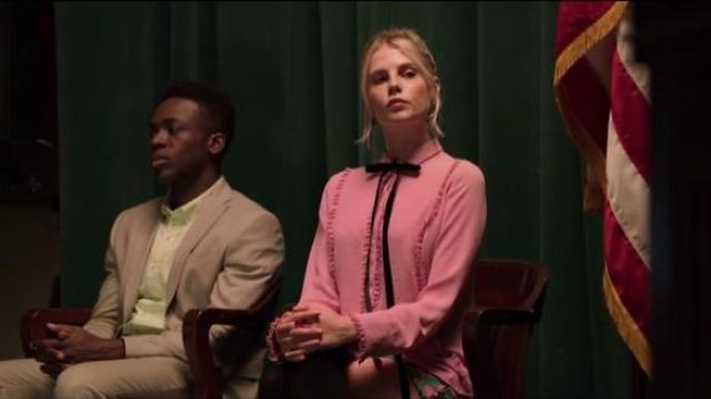 Topshop Green Flower Sequin Mini Skirt outfit worn by Astrid (Lucy Boynton) in The Politician Season 1 Episode 5 - TV Show Outfits and Products