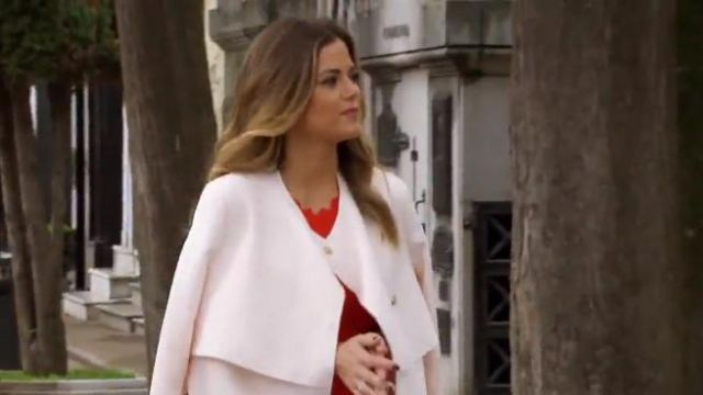 Topshop Putty Raw Edge Belted Coat outfit worn by JoJo Fletcher in The Bachelorette (S12E06) - TV Show Outfits and Products