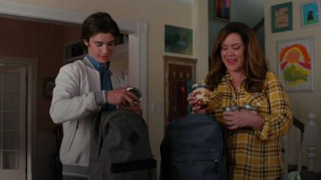 Torrid Yellow Plaid Twill Button Front Shirt outfit worn by Katie Otto (Katy Mixon) in American Housewife Season 4 Episode 7 - TV Show Outfits and Products