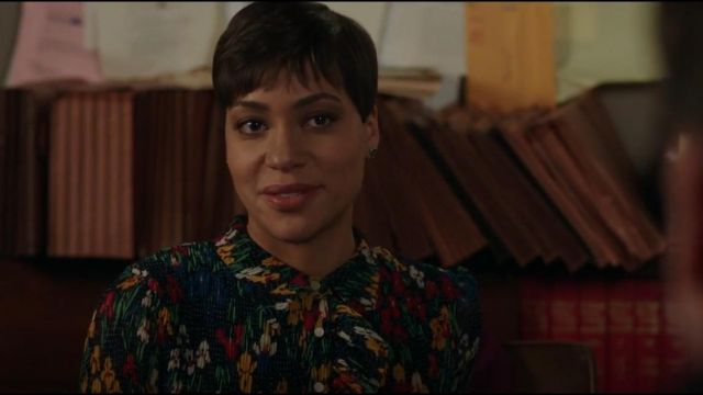 Tory Burch Livia Dress outfit seen on Lucca Quinn (Cush Jumbo) in The Good Fight (S02E09)