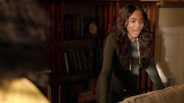 Tracksuit bottoms grey hole Alternative of Jennifer Pierce's (China Anne McClain) seen in Black Lightning Season 1E10 - TV Show Outfits and Products