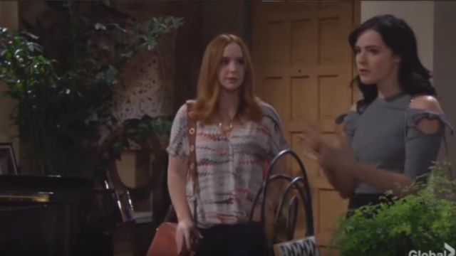 Trouve Surplice Top outfit worn by Mariah Copeland (Camryn Grimes) as seen in The Young and the Restless May 24, 2019 - TV Show Outfits and Products