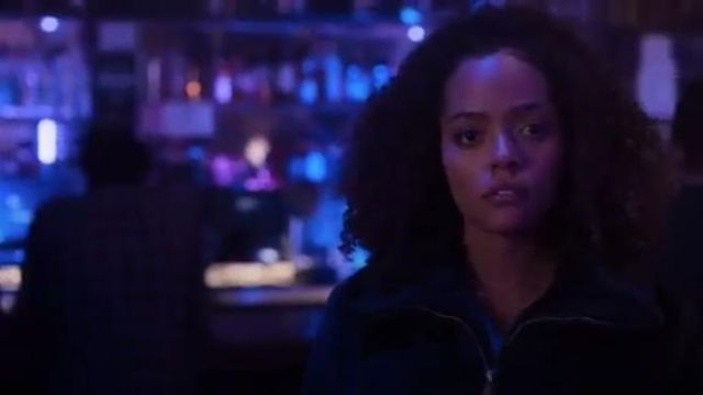 UO Faux Fur Zip-Up Jacket at Urban Outfitters outfit worn by Tabitha Foster (Quintessa Swindell) in Trinkets (S01E03) - TV Show Outfits and Products
