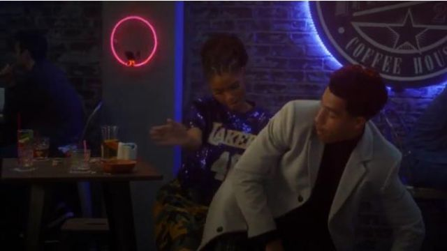 Urban Outfitters Vintage Colorful Camo Cargo Pants outfit worn by Sky Forster (Halle Bailey) in grown-ish (Season 02 Episode 13) - TV Show Outfits and Products