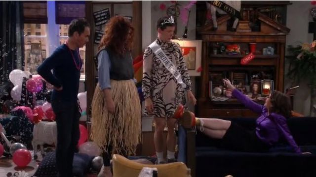 Valentino Tiger Print Dress outfit worn by Jack McFarland (Sean Hayes) in Will & Grace (S02E17) - TV Show Outfits and Products