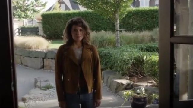 Veda Jayne Suede Jacket outfit worn by Izzy Silva (Priscilla Faia) in You Me Her (S02E05) - TV Show Outfits and Products