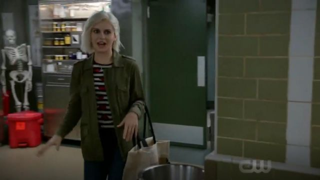 Velvet by Graham & Spencer Army Jacket outfit worn by Olivia Moore (Rose McIver) in iZombie (S05E03) - TV Show Outfits and Products