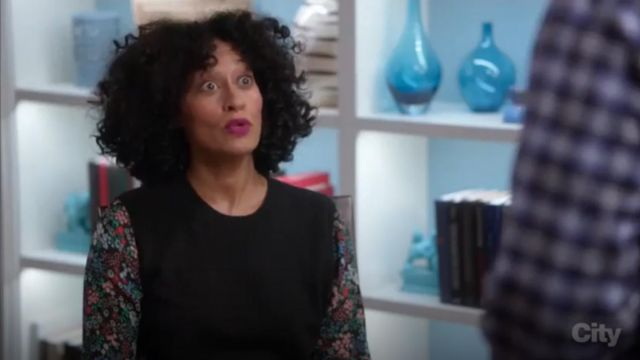 Veronica Beard Mellow Mixed Media Cashmere Sweater outfit worn by Zoey Johnson (Yara Shahidi) in black-ish (Season 03 Episode 13) - TV Show Outfits and Products