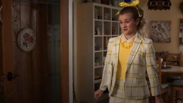 Veronica Beard Yellow Carito Shorts outfit worn by Paige (Jenna Boyd) in Atypical Season 3 Episode 6 - TV Show Outfits and Products