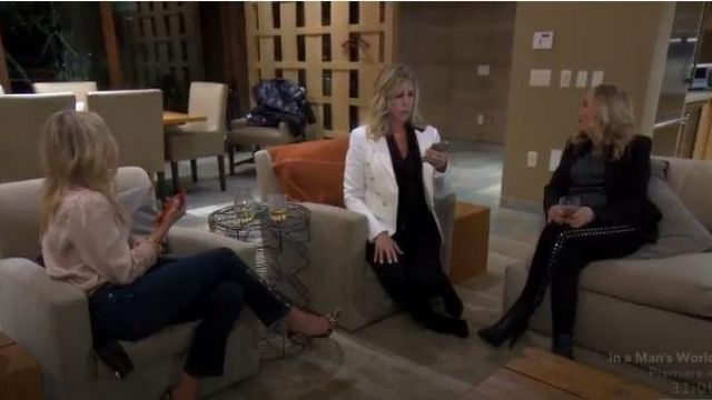 Veronica beard black skinny jeans outfit worn by Herself (Vicki Gunvalson) in The Real Housewives of Orange County Season 14 Episode 09 - TV Show Outfits and Products