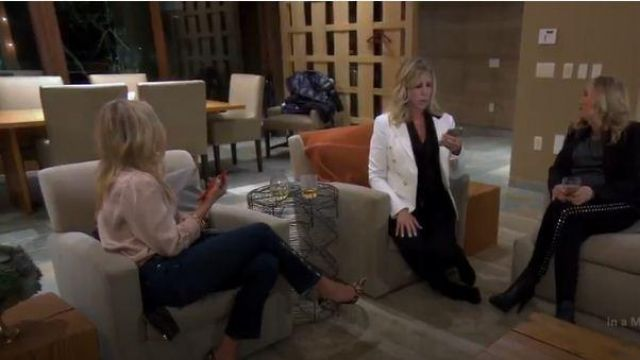 Veronica beard white double breasted blazer outfit worn by Herself (Vicki Gunvalson) in The Real Housewives of Orange County Season 14 Episode 09 - TV Show Outfits and Products