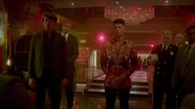 Versace Collection Bold Ethnic Graphic Silk Shirt outfit seen on Hakeem Lyon (Bryshere Y. Gray) in Empire (S03E15)